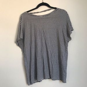 Project social t striped back cut out top